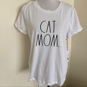 Rae Dunn New Cat Mom T-shirt Tee Shirt Kitten XL